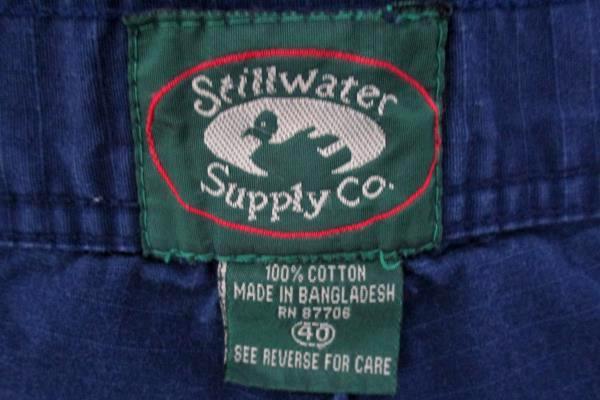 Stillwater Supply Co 100% Cotton Ripstop Navy Blue Cargo Shorts Mens 40