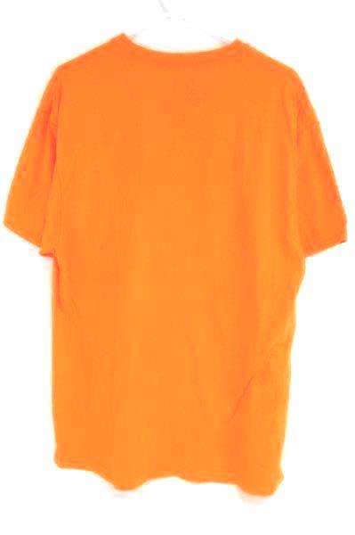 Cowboy Strong Men's Orange Short Sleeve T Shirt Bull Logo Fluorescent Yellow XL