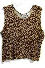 Chico's Design Cheetah Print Tank Top Women's Size 2