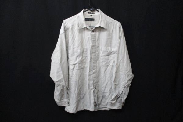 Basic Elements Men's Beige Full Button Up Long Sleeve Shirt Size Large